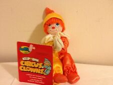 "1984 AmToy Circus Clown Clip-on 5 1/2"" Tall New with Tag"
