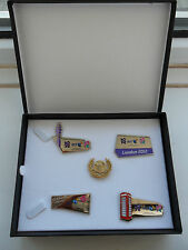OLYMPICS BT PIN BADGE SET LONDON 2012 + PARALYMPIC GAMES LIMITED EDITION IN CASE