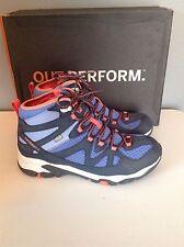 Merrell Tahr Mid Waterproof Hiking Shoes Ebony Periwinkle $120 Womens 9.5