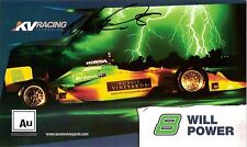 2008 WILL POWER signed INDIANAPOLIS 500 PHOTO CARD POSTCARD INDY CAR KV HONDA wC