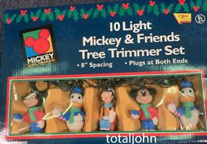 Disney Mickey Mouse and Friends Christmas Tree Trimmer 10 Light Set Original Box