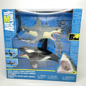 Animal Planet Mega Shark & Orca Encounter With Tiger Shark, Accessories & Diver