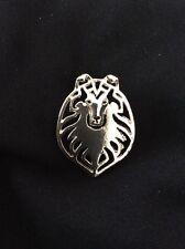 Shetland Sheepdog Sheltie Silver Pin Brooch