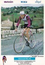 CYCLISME carte cycliste CHRISTIAN SEZNEC équipe MIKO MERCIER  signée