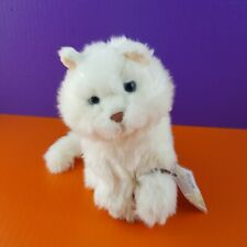 Ganz Webkinz Signature White Plush Cat Persian Stuffed Animal With Code
