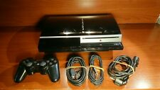 1338 Sony Playstation 3 80GB Piano Black Console CECHK04 + accessories PS3