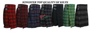 Men's Scottish 5 Yard Kilts 13 OZ Kilt Casual Kilt Top Quality Kilts size 30-50