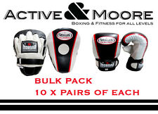 BULK MORGAN FOCUS PADS X10 AND CLASSIC CURVED BAG MITTS X10 BOXING GLOVES