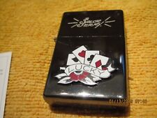 New Sailor Jerry Lucky Cards Black Chrome 2007 Limited Edition Cigarette Lighter