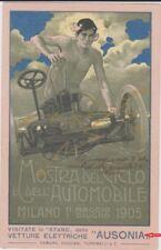 """METLICOVITZ """" AUSONIA """" MOSTRA DEL CICLO E DELL'AUTOMOBILE MILANO 1905 SUPER !"""