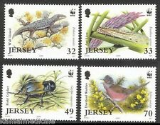 Jersey 2004 Mnh 4v, Wwf, Birds Darford Warbler, Lizard, Insects Ant Lion, Reptil