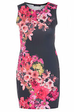 Crew Neck Stretch, Bodycon Formal Floral Dresses for Women