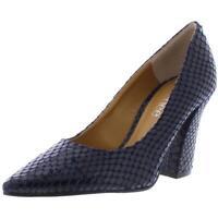 J.Renee Womens Quorra Navy Embossed Heels Pumps Shoes 5 Medium (B,M) BHFO 6680