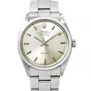 ROLEX Air king 5500 Serial 7 Automatic Silver Dial Vintage Mens Watch 90120140