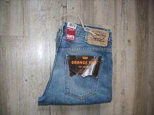DEADSTOCK LEVIS LVC ORANGE TAB 607 60´S BOOTCUT JEANS W34 L32 VINTAGE CLOTHING
