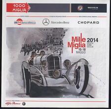 Brochure Mille Miglia la corsa Mercedes Benz Chopard Alfa Romeo oldtimer car ax