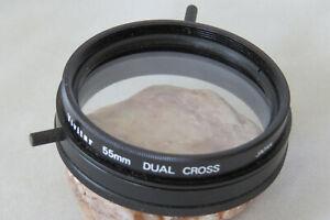 55mm Vivitar Dual Cross Filter - Rare In This Size - Great Fun Filter