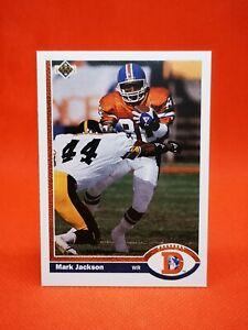 Upper Deck 1991 carte card football NFL NM+/M Denver Broncos #382 Mark Jackson