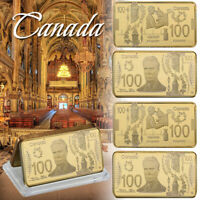 WR Canada 100 Dollars 24K Gold Clad 5 Piece un CadeauPour Collectionneurs