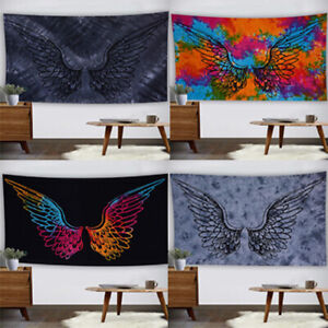 Indian Wall Poster Mandala Tapestry Wall Hanging Cotton Wall Decor Angel Wings
