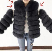 real fox fur coat/ jacket Gilet Removable Sleeves