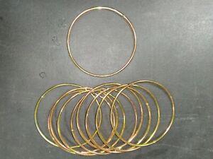 """4"""" inch metal ring hoop for crafts, macramé, dream catchers pk of ten"""