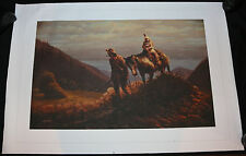 Frontiersman and Daughter High Quality Print on Canvas - 1982 Nick Cardy