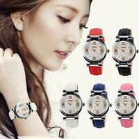 SKMEI Women's Fashion Casual Leather Analog Quartz Wrist Watch Waterproof DQCA