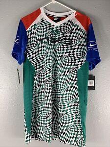 Nike Women's Sportswear Jersey Loose Fit Dress Multi-Color BQ8419-480 Size XS