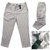 LAUREN Ralph Lauren Lightweight Striped Straight Trousers Size XL NEW RRP £135