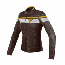 Blousons marrons pour motocyclette Femme