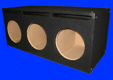 "3 THREE HOLE 12"" PORTED VENTED BLACK CHAMBERED SUBWOOFER SUB ENCLOSURE BOX"
