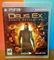 Deus Ex Human Revolution   - Sony PlayStation 3 PS3 Game COMPLETE w/ Manual