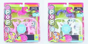 MY LITTLE PONY pop set of 2 RARITY + PINKIE PIE design create craft toys - NEW!