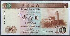 Macau 10 Patacas Bank of China 1997 unc
