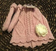 Toby™ Cable Knit Newborn 2-Piece Hat and Mitten Set in Pink