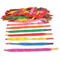 100 x Assorted Colors Long Rocket Balloons with Tube Party Fillers Fun Toys D4S9