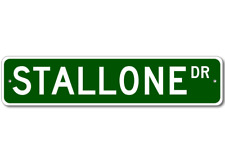 Custom Last Name Drive Street Sign STALLONE Personalized Aluminum Metal Plaque