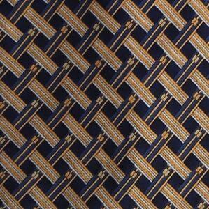 Blue Orange Silk Self Tipped Tie