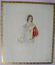 SMALL PORTRAIT VIOLA A GIRL IN BREECHES  ELIZABETH HENNAKER (2) W/COL C1840