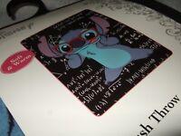 New Lilo & Stitch Space Alien Genius Math Nerd Disney Plush Fleece Throw Blanket