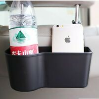 Car Auto Vehicle Seat Back Hanger Holder Organizer Pocket Storage Bag Black
