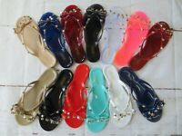 "Jelly Sandal ""BARCELONA"" Women's Thong Flip Flop Slip On - Ann More Shoes"