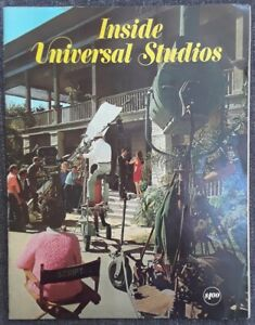 Inside Universal Studios Book Program 1971 Psycho House Frankenstein Amusement