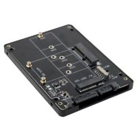 2-in-1 M.2 NGFF B-key & mSATA SSD to SATA 3.0 Adapter Converter Case Enclosure