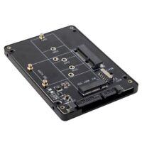 2-in-1 M.2 NGFF B-key & mSATA SSD to SATA 3.0 Adapter Converter Case Enclosure