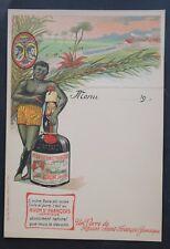 MENU étiquette RHUM JAMAIQUE Plantation Saint-François French card CAMIS