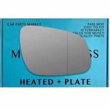 Right side Wide Angle wing mirror glass for Vauxhall Viva 2015-2017 heated plate
