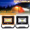 50W/1000LM Lampada Solare Portatile USB Ricaricabile LED Flood Luce da Lavoro
