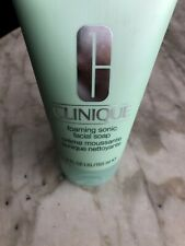 Clinique Foaming Sonic Facial Soap Creme Huge 5oz Allergy Tested Great Item